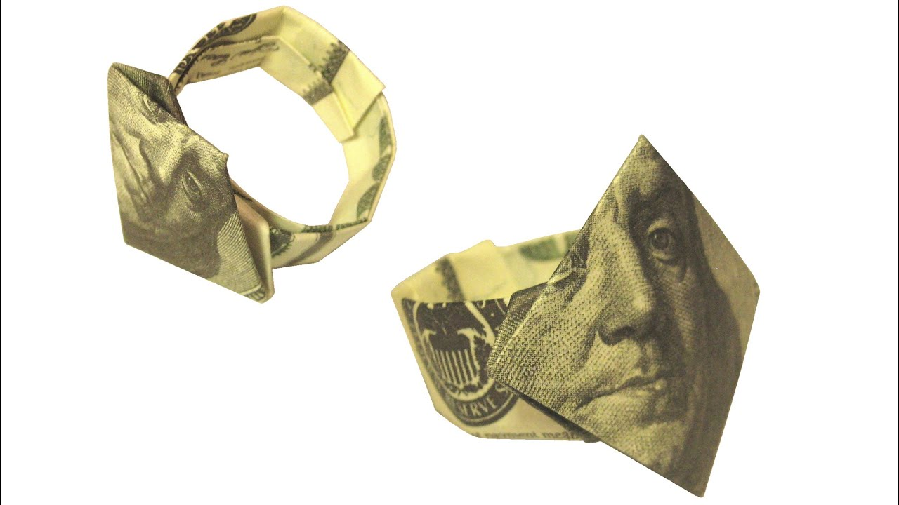 Dollar Finger Ring Money Origami - YouTube - photo#33
