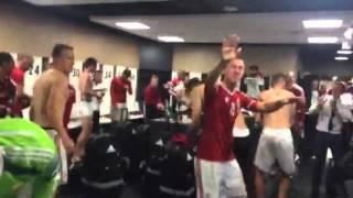 Így ünnepelt a válogatott a Magyarország-Norvégia pótselejtező után
