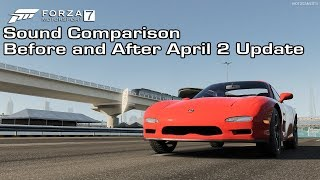 Forza Motorsport 7 - 1997 Mazda RX-7 Sound Comparison - Before and After April 2 Update