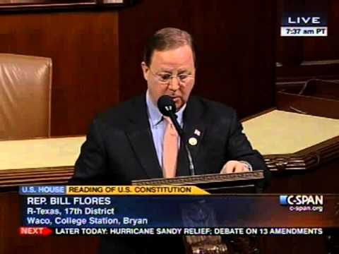 Flores Participates in the Reading of the Constitution for the 113th Congress