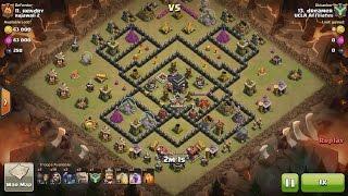 Clash of Clans TH8 vs TH9 Golem, Wizard & Pekka (GoWiPe) Clan War 3 Star Attack