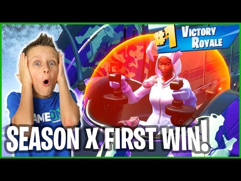 SEASON X FIRST VICTORY ROYALE!