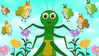 В траве сидел кузнечик  V trave sidel kuznechik  A grasshopper sat on the grass  Kids Tv Russia