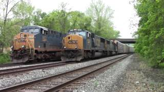 CSX Oil Train with BNSF & CSX Trains with Old Power @ Saint Denis