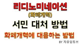 리디노미네이션/화폐개혁 - 서민 대처법