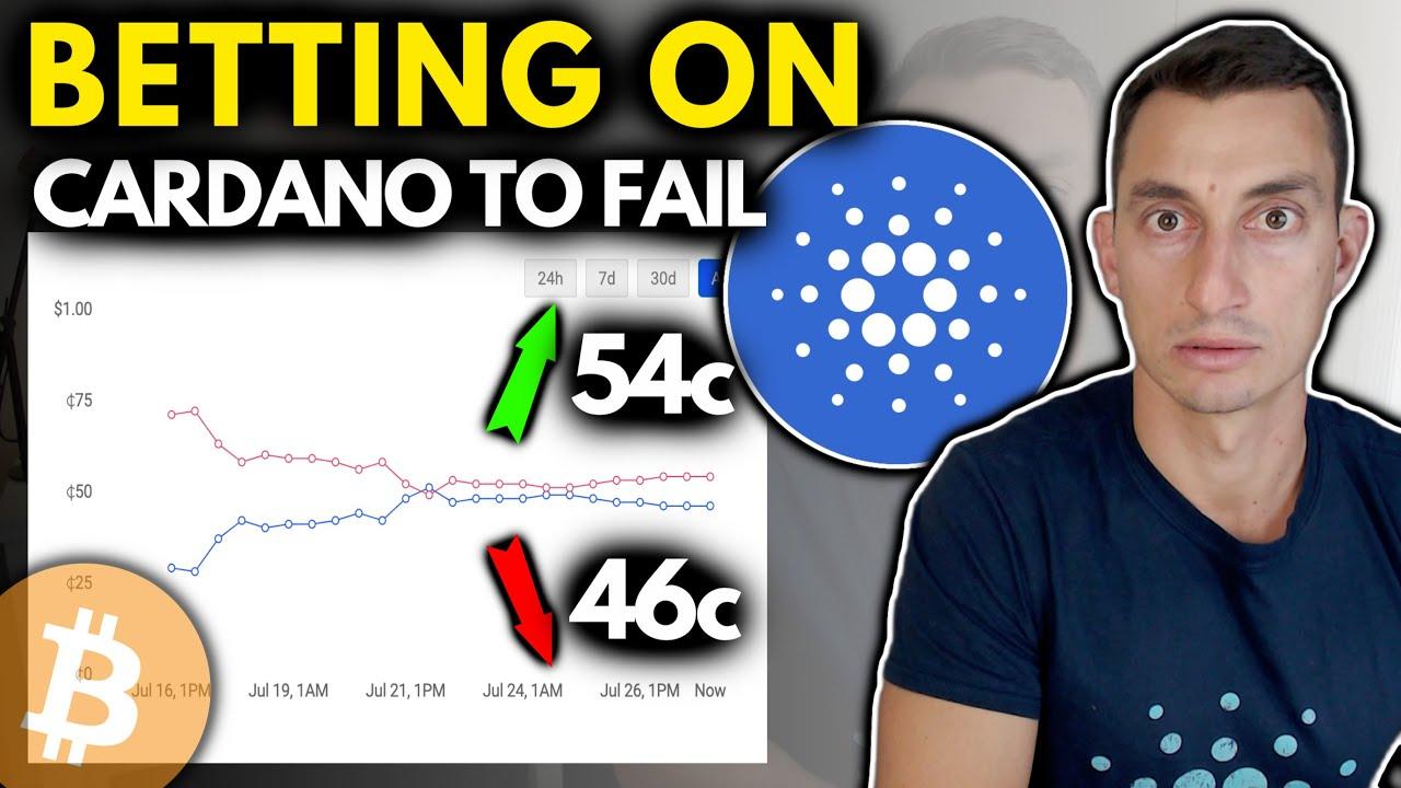 CARDANO JUMPS 30%!   MARKET BETS ON ADA CRYPTO FAILURE?!