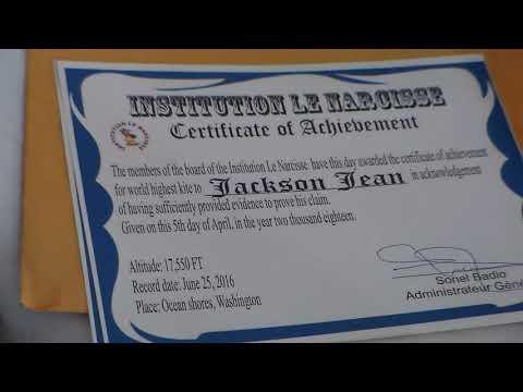 jackson certificate of achievement youtube
