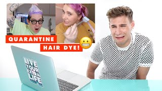 Hairdresser Brad Mondo Reacts to Quarantine Hair Dye Disasters | Cosmopolitan