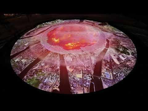 「広島平和記念資料館」原爆投下CG映像