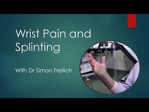 How to use a wrist splint