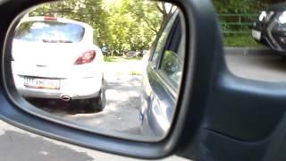 задом вариант когда мало места (парковка слева)