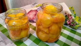 Персики в сиропе на зиму! Простой рецепт!
