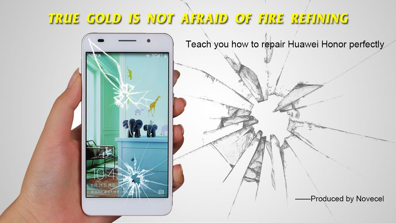 HOW TO REPLACE HUAWEI HONOR 6 GLASS --- Presented by NOVECEL