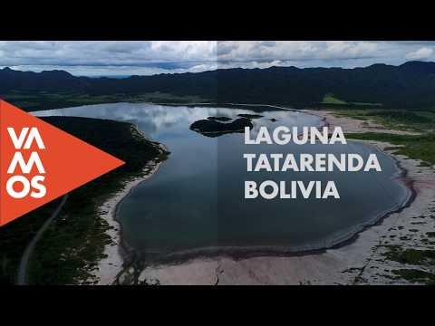 Los Invitamos sobrevolar la Laguna Tatarenda.