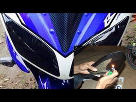 Cara Memasang Kaca Film Smoke Pada Lampu Motor