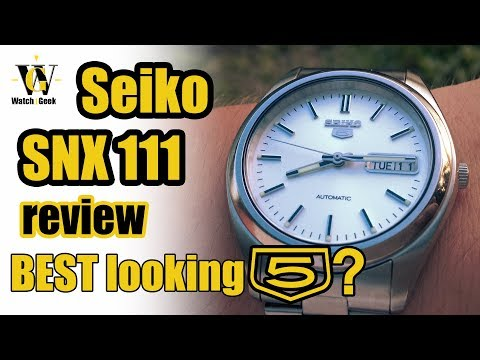 Seiko 5 Review - SNX 111 - is it the BEST looking Seiko 5?