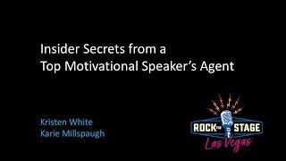 Insider Secrets from a Top Motivational Speaker's Agent