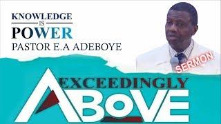 pastor ea adeboye sermon exceedingly above