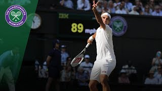 Roger Federer vs Jan Lennard Struff 3R Highlights | Wimbledon 2018
