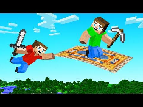Hunters VS Speedrunner BUT We Have MAGIC CARPETS! (Minecraft)