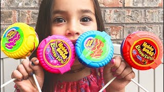 Color Song | Baby Nursery Rhymes for Children and HUBBA BUBBA Lollipop