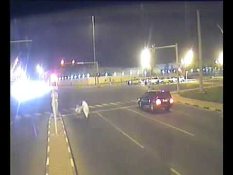 Fooling around Al-Waab Traffic Signal - Doha Qatar