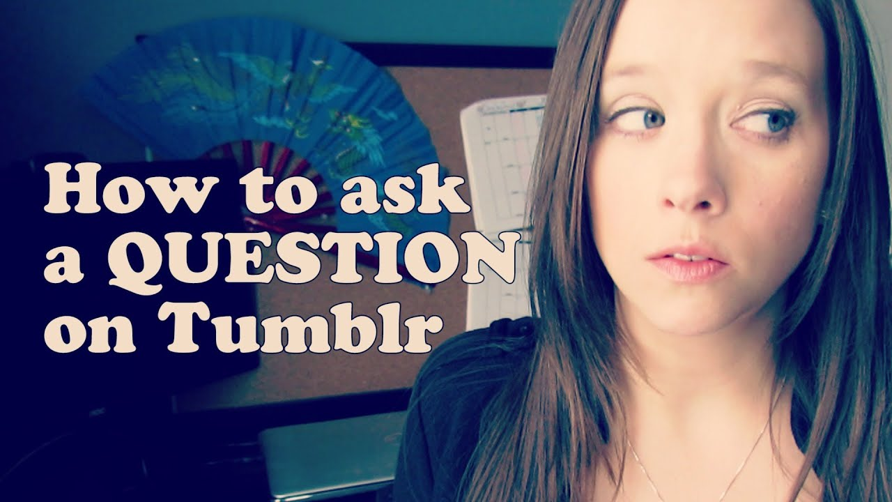 how to ask questions on tumblr mobile