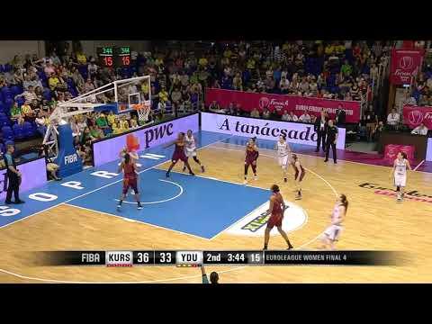 Sonja Petrovic 3 pointers in Dynamo Kursk vs  Yakin Dogu Universitesi