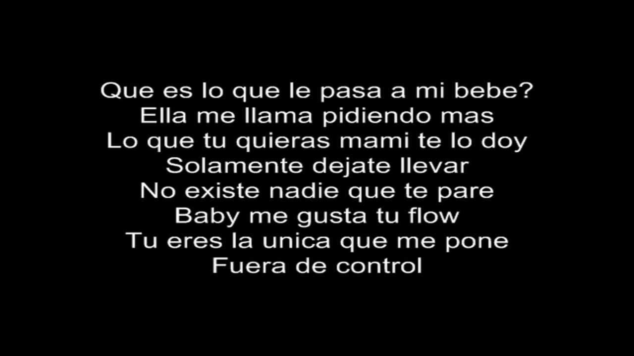 Fuera de control daddy yankee letra lyrics youtube for Fuera de control dmax