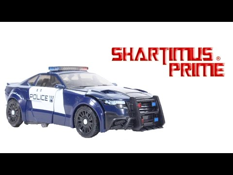 Transformers Barricade The Last Knight Deluxe Class Movie Hasbro Action Figure Toy Review