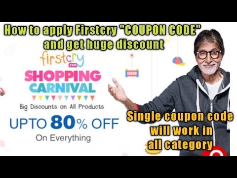 """Firstcry coupon code 