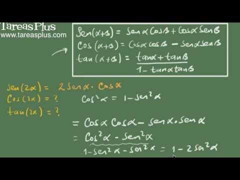 Identidadades trigonométricas del ángulo doble