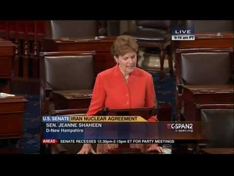 On Senate Floor Shaheen Speaks in Support of Iran Nuclear Deal