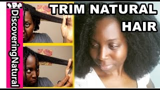 HOW TO TRIM NATURAL HAIR, STRETCHED or STRAIGHTEN #NaturalHair #Hair