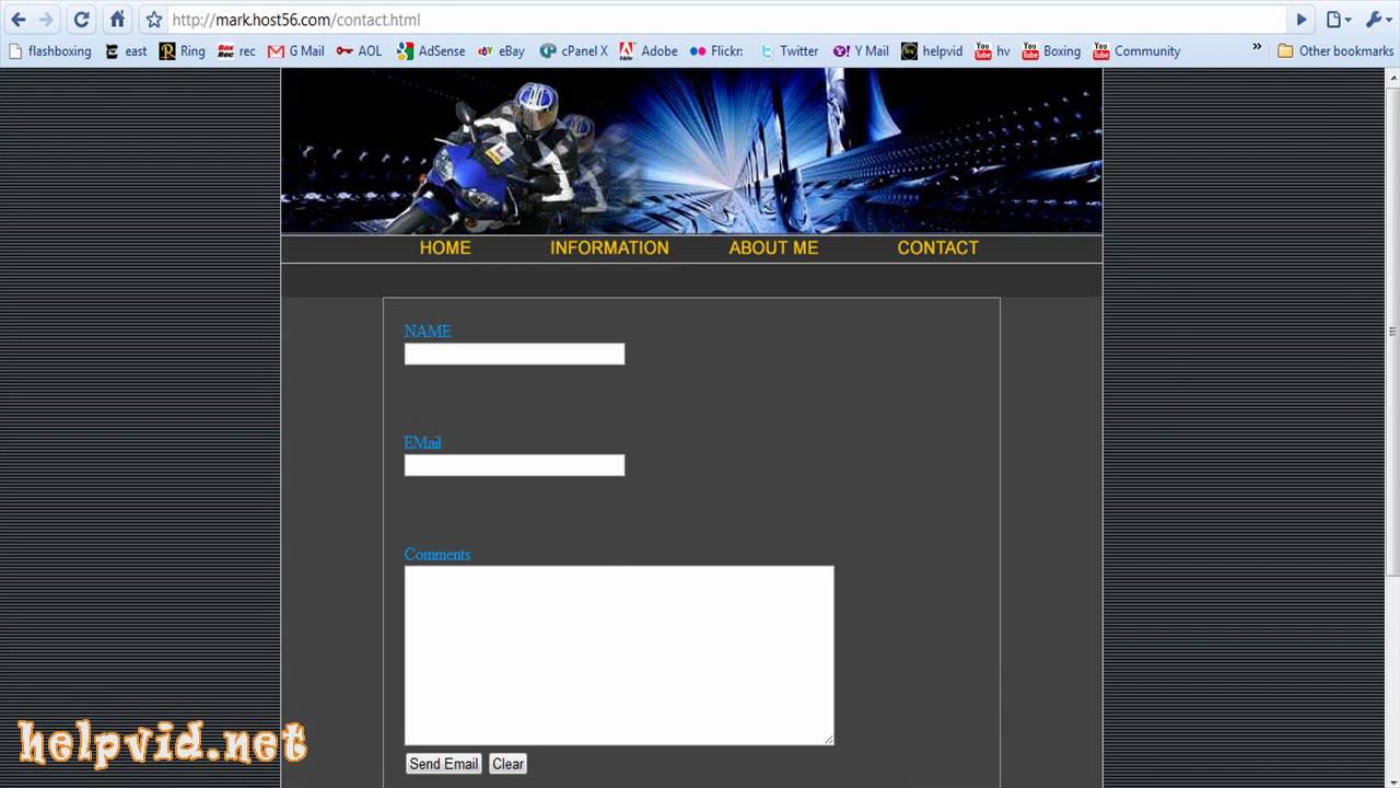 Create a Contact Form / Page for your website, PHP Script ...