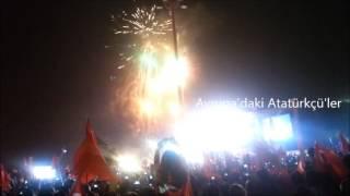 İzmir Gündoğdu 29 Ekim 2013 Kutlamaları Havai Fişek Şov
