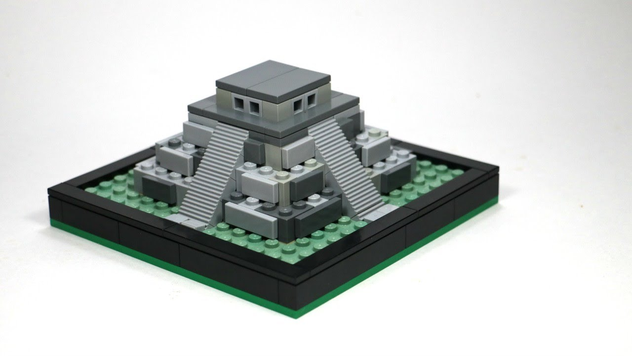LEGO Micro Scale Mayan Temple MOC Temple from