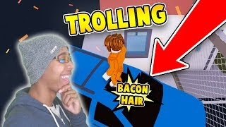 TROLLING AS BACON HAIR avec SUV en ROBLOX JAILBREAK!!!