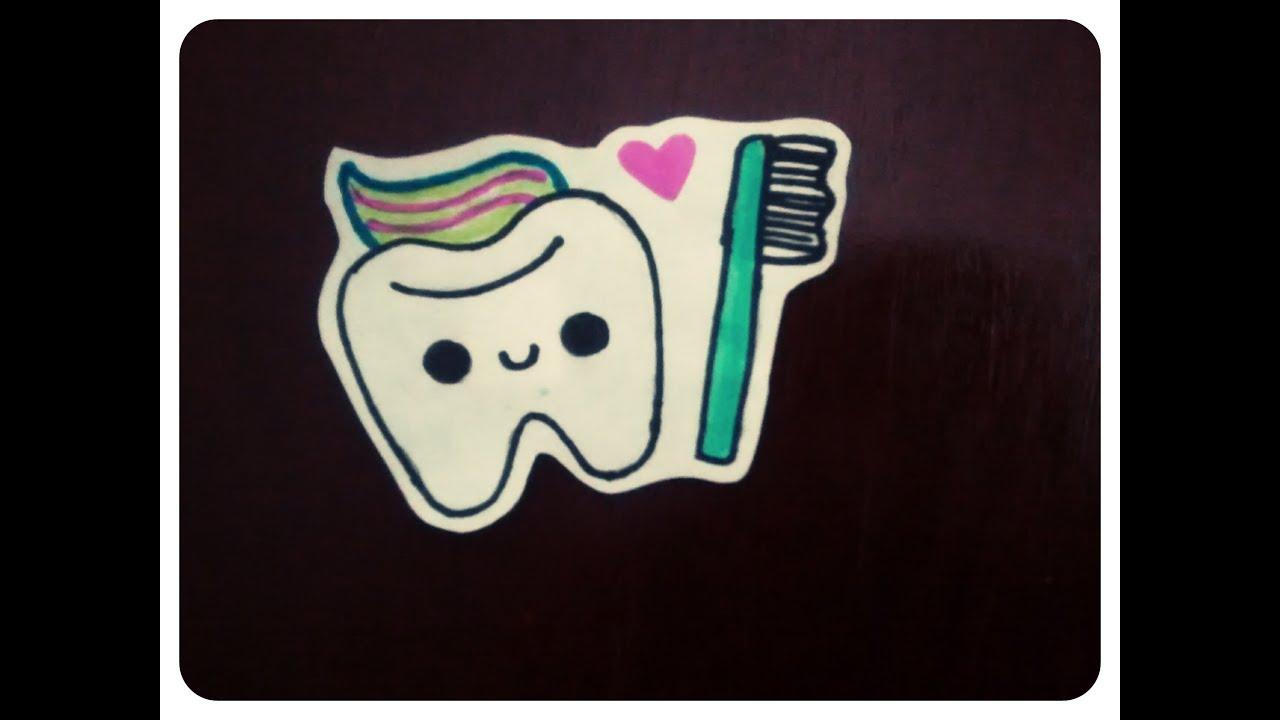 Como dibujar un diente kawaii   YouTube