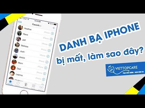 Cách lấy lại danh bạ trên iPhone bị mất, xóa nhầm đơn giản