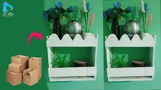 Keren !! ide kreatif rak dinding minimalis dari kardus bekas