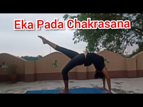 eka pada chakrasana one legged wheel yoga posture  youtube