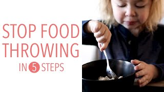 Stop Toddlers Throwing F๐od in 5 Steps