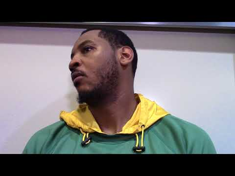 Carmelo Anthony Postgame Locker Room Interview 3-6-18