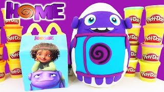 Dreamworks Movie HOME 2015 Play Doh Surprise Egg with FUN McDonald's Happy Meal Toys