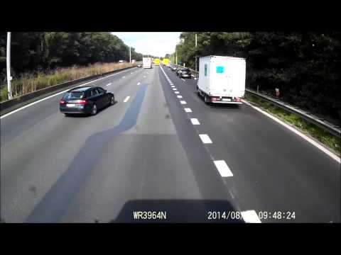 Car vs truck crash E40 Aalter (Belgium)