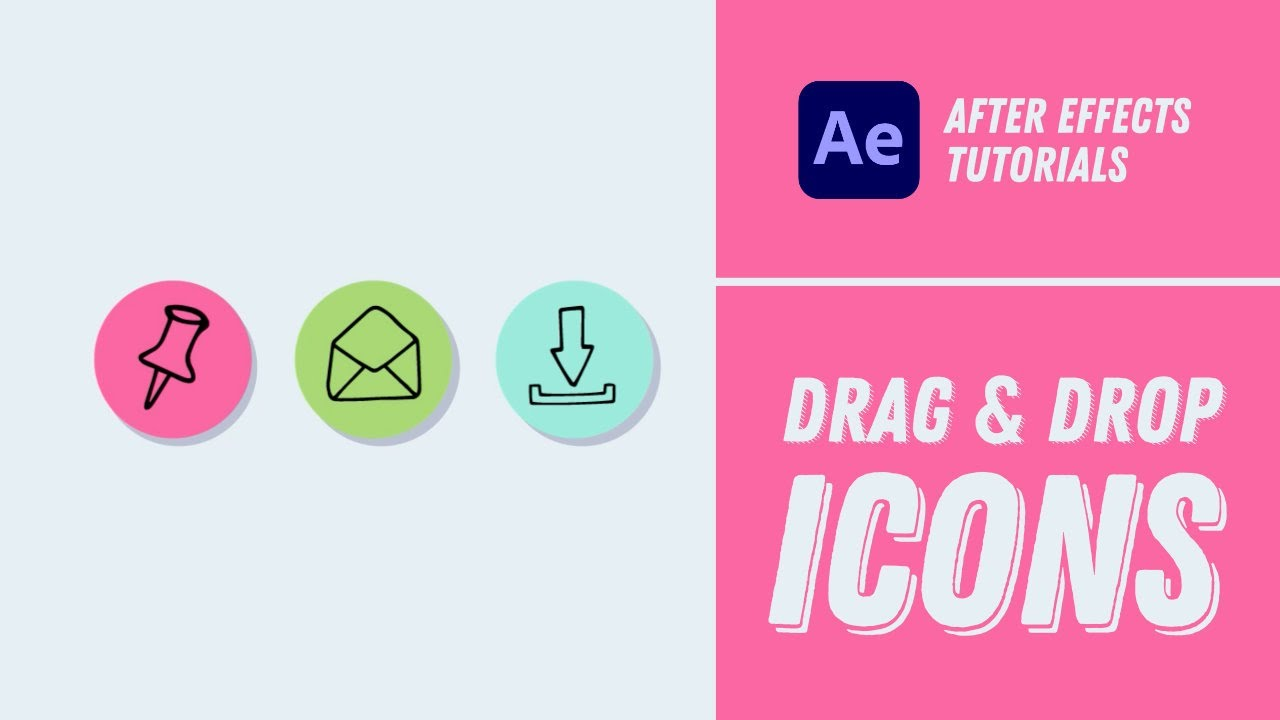 Drag & Drop Icons Animation - After Effects Tutorial #19