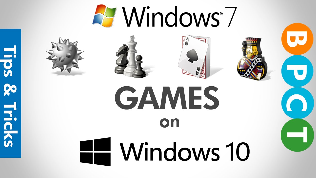 Install Windows 7 Games on Windows 10 (Chess Titans, Minesweeper, Solitaire  etc )
