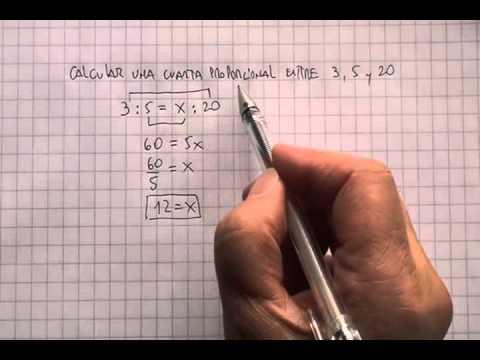 Razones y proporciones: Cuarta proporcional 02