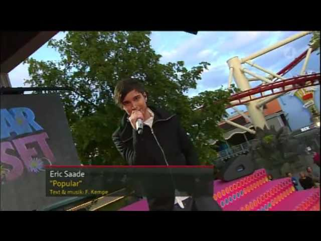 Eric Saade - Popular (Live at Sommarkrysset 2011)